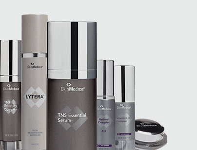 a group of SkinMedica serums and products