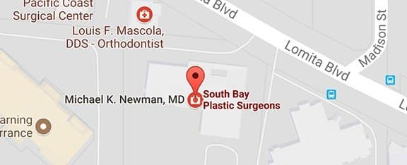 Map of South Bay Plastic Surgeons Office