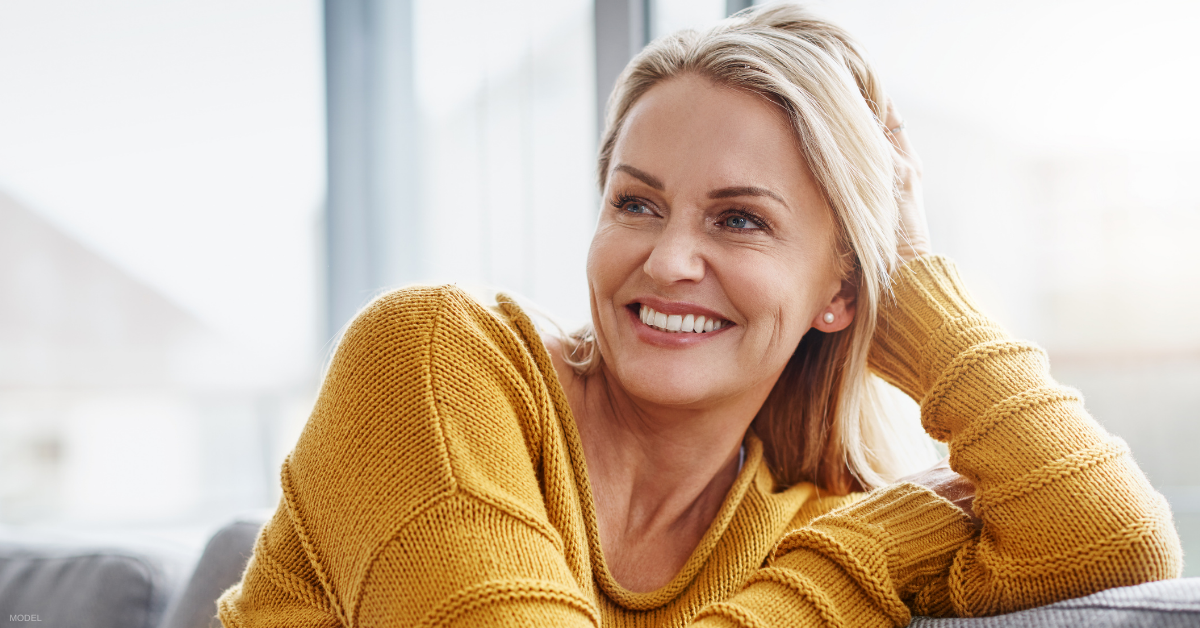 Woman in Los Angeles, CA considering her facial rejuvenation options (model)